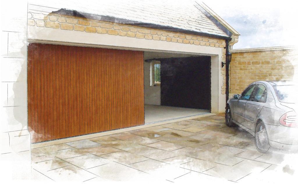 SWS Vertico sliding garage door