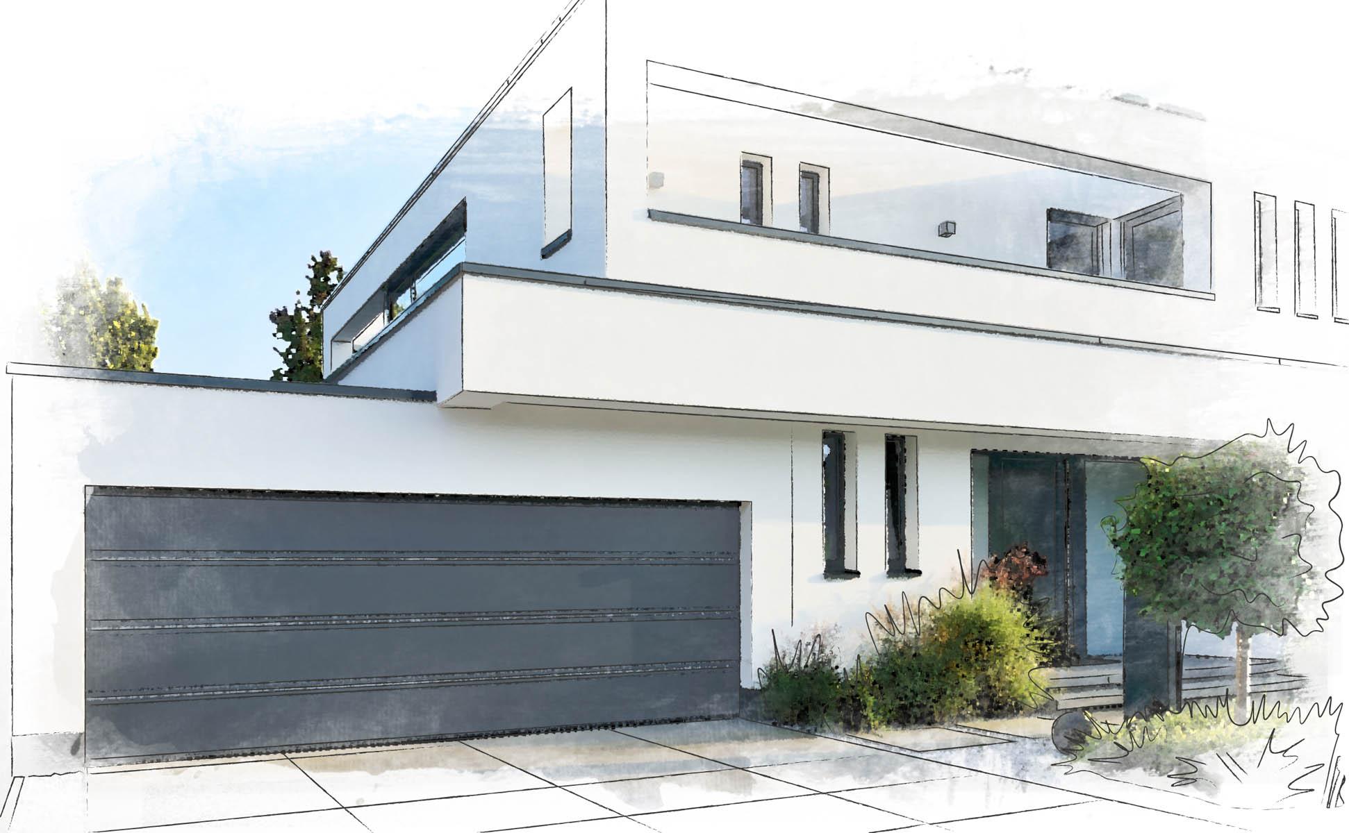 sectional garage door anthracite