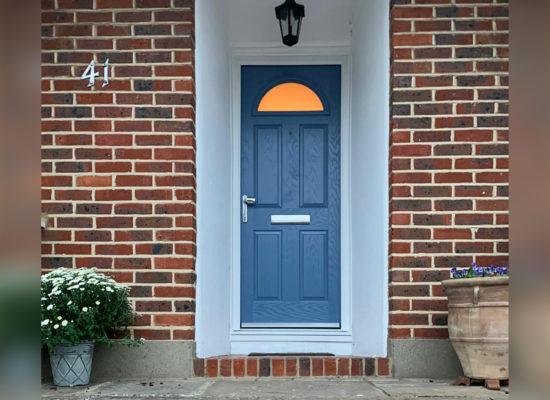 Truedor TR1E Monet Composite Entrance Door in Larkspur Blue