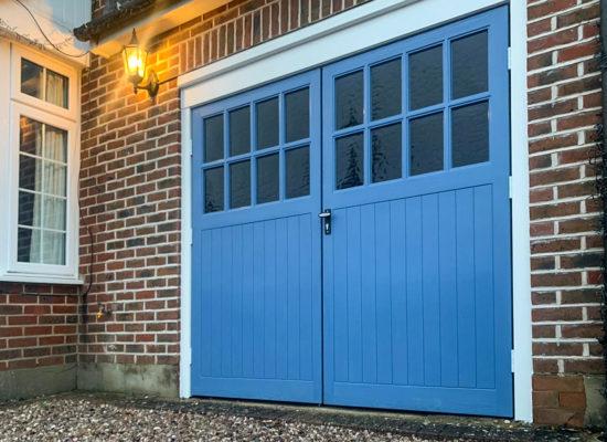 Wessex Sherwood Woodgrain GRP Side Hinged Garage Door