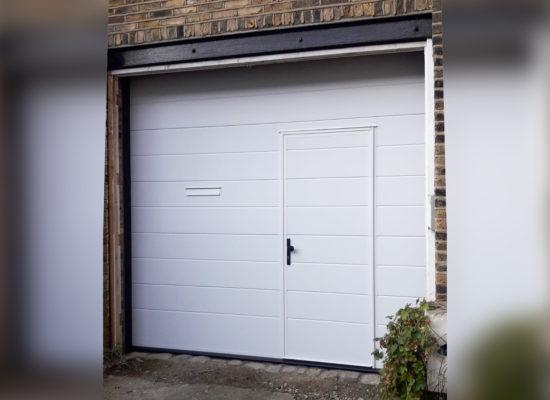 Ryterna Automated Sectional Garage Door with Wicket Door