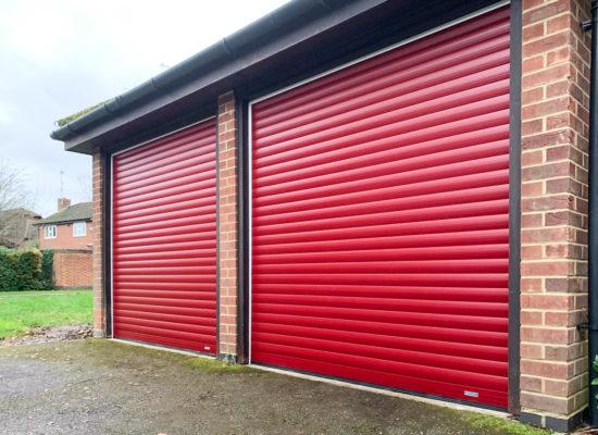 SWS SeceuroGlide LT Roller Garage Doors in Red