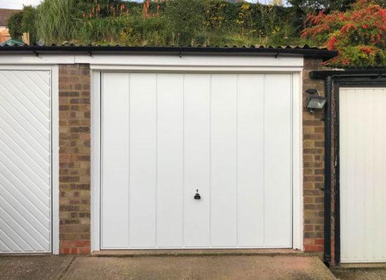 Garador Windsor Canopy Garage Door in White
