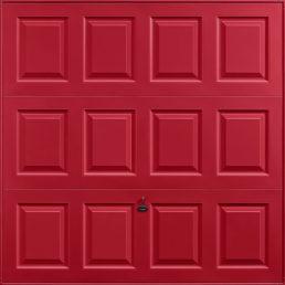 Georgian garage door ruby red